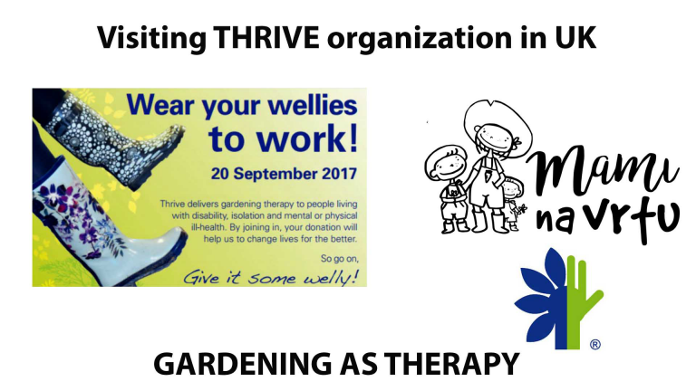 Thrive organization   Wear your wellies to work   Horticultural therapy