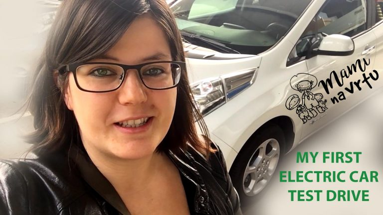 Avto na gumb | Driving an electric car | NISSAN LEAF
